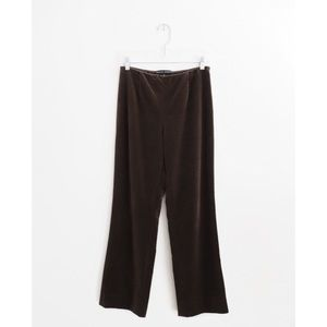 Ralph Lauren Brown Cotton Stretch Velvet Pants 6